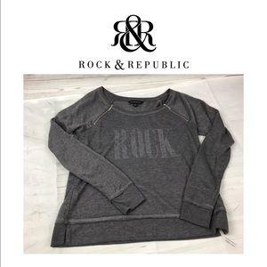 Rock & Republic Grey Light Sweat Shirt. Sz M